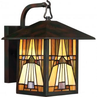 ELSTEAD QZ-INGLENOOK2-M | Inglenook Elstead rameno stenové svietidlo ručne vyrobené 1x E27 IP44 mosadzovo hnedý, viacferebné