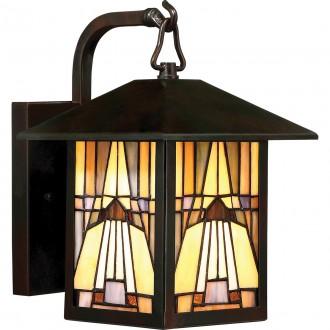 ELSTEAD QZ-INGLENOOK2-S | Inglenook Elstead rameno stenové svietidlo ručne vyrobené 1x E27 IP44 mosadzovo hnedý, viacferebné