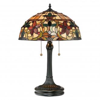 ELSTEAD QZ/KAMI/TL | Kami-EL Elstead stolové svietidlo 58,4cm prepínač ručne vyrobené 2x E27 mosadzovo hnedý, viacferebné