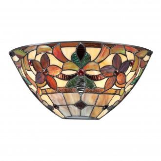 ELSTEAD QZ/KAMI/WU | Kami-EL Elstead stenové svietidlo ručne vyrobené 2x E14 mosadzovo hnedý, viacferebné