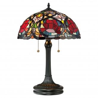 ELSTEAD QZ-LARISSA-TL | Larissa-EL Elstead stolové svietidlo 58,4cm 2x prepínač na ťah ručne vyrobené 2x E27 mosadzovo hnedý, viacferebné