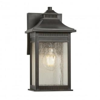 ELSTEAD QZ/LIVINGSTON2/S | Livingston Elstead stenové svietidlo navrhnuté na pobrežie 1x E27 IP44 UV mosadzovo hnedý, bublinový efekt