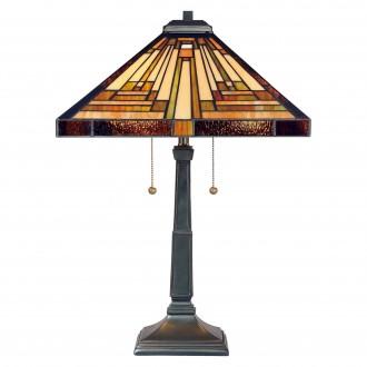 ELSTEAD QZ/STEPHEN/TL | Stephen Elstead stolové svietidlo 58,4cm prepínač na vedení ručne vyrobené 2x E27 mosadzovo hnedý, viacferebné