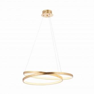 ENDON 72479 | Scribble-EN Endon visiace svietidlo 1x LED 1650lm 3000K starožitná zlata, morené