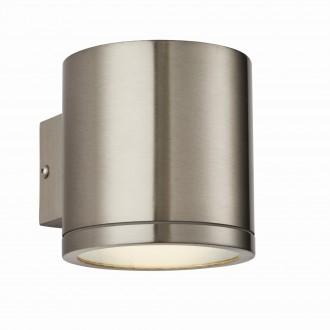 ENDON 73193 | Nio Endon rameno stenové svietidlo 1x LED 510lm IP44 zušľachtená oceľ, nehrdzavejúca oceľ, priesvitné