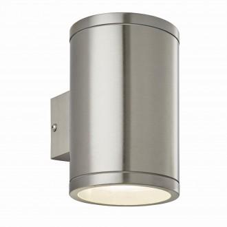 ENDON 73194 | Nio Endon rameno stenové svietidlo 1x LED 690lm IP44 zušľachtená oceľ, nehrdzavejúca oceľ, priesvitné