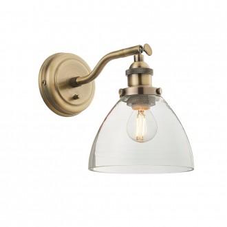 ENDON 77273 | Hansen Endon rameno stenové svietidlo prepínač 1x E14 antická meď, priesvitné