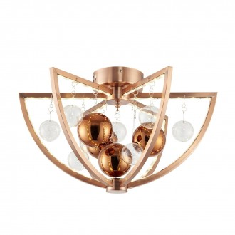 ENDON MUNI-CO-F   Muni Endon stropné svietidlo 6x LED 450lm 3000K mosadz, priesvitné