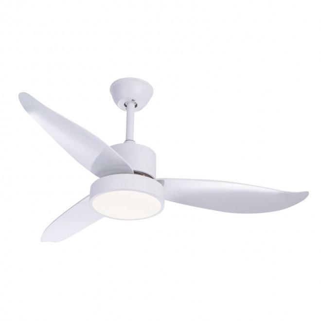 GLOBO 03600 | Ramona_GL Globo stropné svietidlo s ventilátorom diaľkový ovládač 1x LED 990lm 4000K biela, saténový
