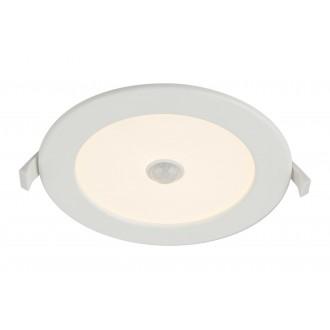 GLOBO 12391-12S | Unella Globo zabudovateľné svietidlo pohybový senzor Ø170mm 1x LED 1000lm 3000K IP44/20 biela, matný opál