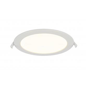 GLOBO 12392-18 | Polly Globo zabudovateľné svietidlo Ø220mm 1x LED 1600lm 3000K IP44/20 biela, matný opál