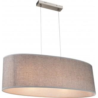 GLOBO 15185H2 | Paco Globo visiace svietidlo 3x E27 matný nikel, saténový, sivé