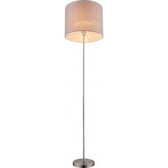 GLOBO 15185S | Paco Globo stojaté svietidlo 160cm 1x E27 matný nikel, sivé, biela