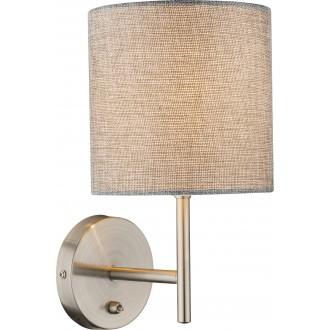 GLOBO 15185W | Paco Globo rameno stenové svietidlo 1x E14 matný nikel, sivé, biela