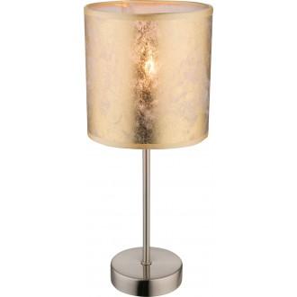 GLOBO 15187T | Amy Globo stolové svietidlo 35cm prepínač 1x E14 matný nikel, zlatý