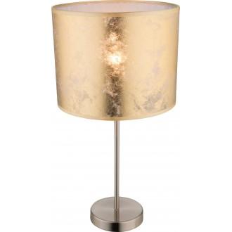 GLOBO 15187T1 | Amy Globo stolové svietidlo 50cm prepínač 1x E27 matný nikel, zlatý