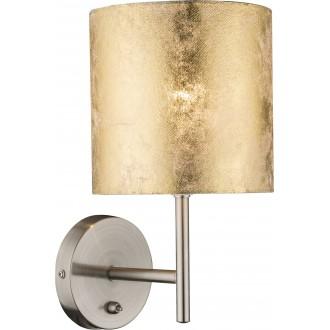 GLOBO 15187W | Amy Globo stenové svietidlo prepínač 1x E14 matný nikel, zlatý