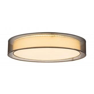 GLOBO 15190D4 | Theo Globo stropné svietidlo diaľkový ovládač regulovateľná intenzita svetla, nastaviteľná farebná teplota 1x LED 5000lm 3000 - 4500 - 6000K biela, sivé, biela