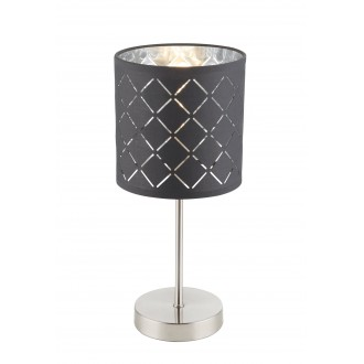 GLOBO 15228T | Kidal-Clarke Globo stolové svietidlo 35cm prepínač 1x E14 matný nikel, čierna