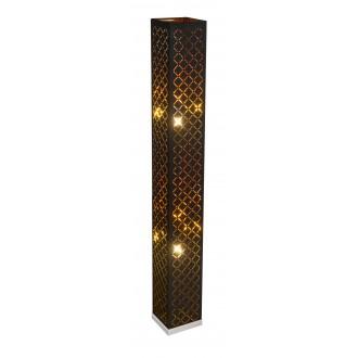 GLOBO 15229S2 | Kidal-Clarke Globo stojaté svietidlo 118cm nožný vypínač 2x E27 matný nikel, zlatý, čierna
