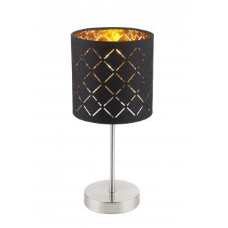 GLOBO 15229T | Kidal-Clarke Globo stolové svietidlo 35cm prepínač na vedení 1x E14 chróm, matný nikel, zlatý