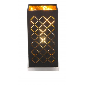GLOBO 15229T1 | Kidal-Clarke Globo stolové svietidlo 25cm prepínač na vedení 1x E14 matný nikel, zlatý, čierna