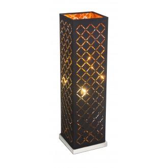GLOBO 15229T2 | Kidal-Clarke Globo stolové svietidlo 57cm prepínač na vedení 1x E27 matný nikel, zlatý, čierna