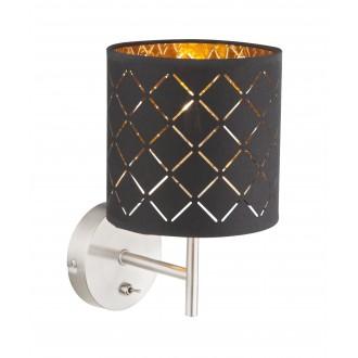 GLOBO 15229W | Kidal-Clarke Globo stenové svietidlo prepínač 1x E14 chróm, matný nikel, zlatý