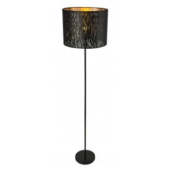 GLOBO 15264S   Tuxon-Tarok Globo stojaté svietidlo 160cm prepínač 1x E27 čierna metalíza, zlatý
