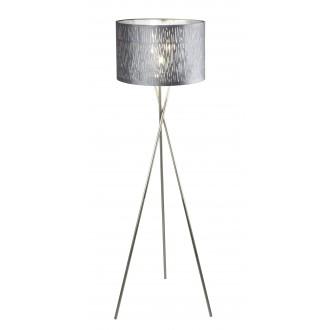 GLOBO 15265S1 | Tuxon_Tarok Globo stojaté svietidlo 160cm prepínač 1x E27 matný nikel, strieborný