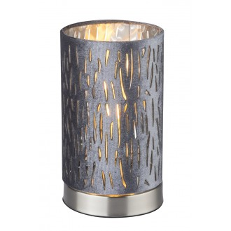GLOBO 15265T1 | Tuxon_Tarok Globo stolové svietidlo 20,5cm prepínač 1x E14 matný nikel, strieborný