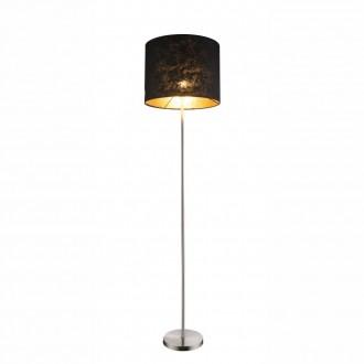 GLOBO 15287S | Amy Globo stojaté svietidlo 160cm prepínač 1x E27 matný nikel, čierna, zlatý