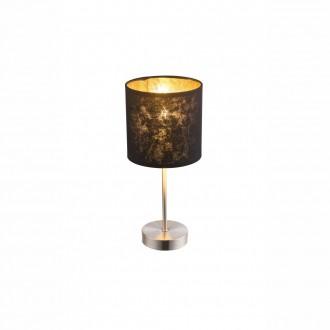 GLOBO 15287T | Amy Globo stolové svietidlo 35cm prepínač 1x E14 matný nikel, čierna, zlatý