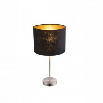 GLOBO 15287T1 | Amy Globo stolové svietidlo 50cm prepínač 1x E27 matný nikel, čierna, zlatý