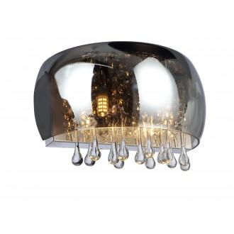 GLOBO 15809W | Kalla Globo stenové svietidlo 2x G9 kov, dym, priesvitné
