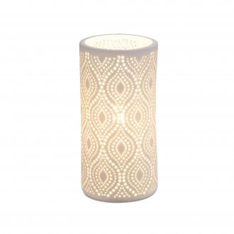 GLOBO 15917T | Cendres Globo stolové svietidlo 20cm prepínač 1x E14 biela