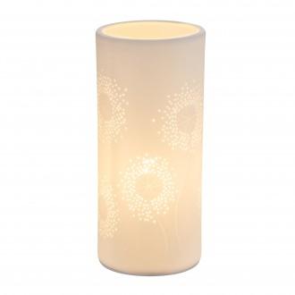GLOBO 15919T | Cendres Globo stolové svietidlo 24cm prepínač 1x E14 biela