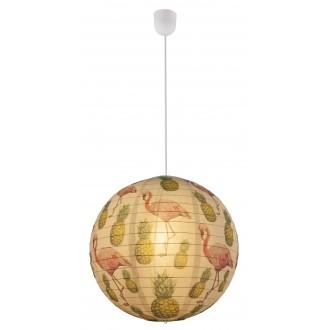 GLOBO 16921 | Flamant Globo visiace svietidlo 1x E27 biela, vzorka