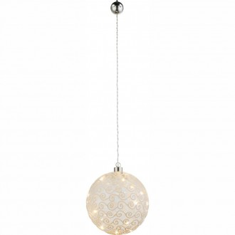 GLOBO 23232 | Kreta Globo dekor svietidlo prepínač 10x LED matný nikel, biela