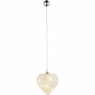 GLOBO 23233 | Kreta Globo dekor svietidlo prepínač 6x LED matný nikel, biela