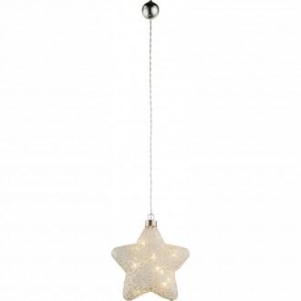 GLOBO 23234 | Kreta Globo dekor svietidlo prepínač 10x LED matný nikel, biela