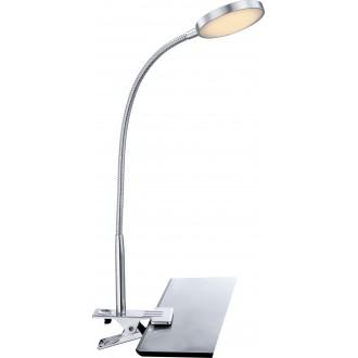 GLOBO 24103K | Pegasi Globo štipcové svietidlo prepínač flexibilné 1x LED 550lm 3000K chróm, hliník