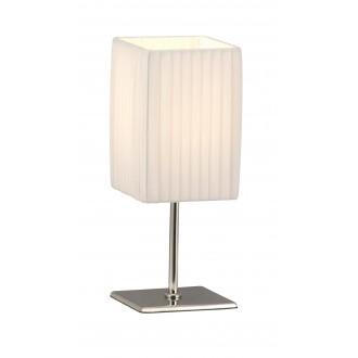GLOBO 24660 | Bailey Globo stolové svietidlo 26cm prepínač 1x E14 chróm, biela