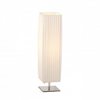 GLOBO 24661 | Bailey Globo stolové svietidlo 58cm prepínač 1x E27 chróm, biela