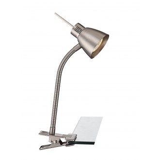 GLOBO 2476L | Nuova Globo štipcové svietidlo prepínač flexibilné 1x GU10 165lm 3000K matný nikel