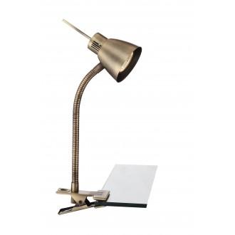 GLOBO 2477L | Nuova Globo štipcové svietidlo prepínač flexibilné 1x GU10 165lm 3000K antická meď