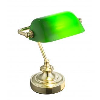 GLOBO 24917 | Antique Globo stolové svietidlo 24cm prepínač na vedení 1x E14 mosadz, zelená