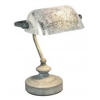 GLOBO 24917G | Antique Globo stolové svietidlo 24cm prepínač na vedení 1x E14 betón, strieborný