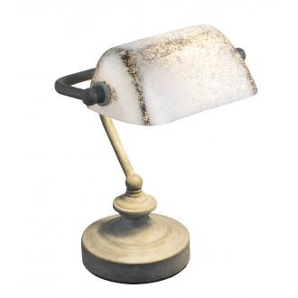 GLOBO 24917R | Antique Globo stolové svietidlo 24cm prepínač na vedení 1x E14 hrdzavo hnedé, starožitná zlata
