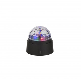 GLOBO 28014 | Disco Globo stolové svietidlo 9cm prepínač 6x LED čierna, viacferebné